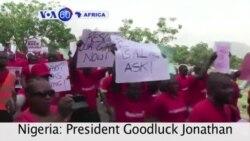 VOA60 Afirka: Shugaba Jonathan Ya Gana da Iyayen 'Yan Matan Chibok, Najeriya, Yuli 22, 2014