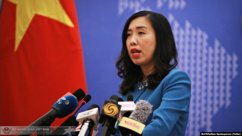 Người phát ngôn BNG Lê Thị Thu Hằng nói Việt Nam mong muốn chính phủ Mỹ tạo thuận lợi cho cộng đồng người Việt hòa nhập và đóng góp cho nước Mỹ. (Twitter MoFAVietNam Spokesperson)