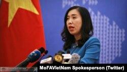 Người phát ngôn BNG Việt Nam Lê Thị Thu Hằng (Twitter MoFAVietNam Spokesperson)