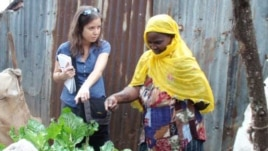 Nierenberg says Africa's urban farmers, such as this one in Nairobi's Kibera slum, have a lot to teach the rest of the world about growing food in a city environment