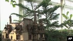 纽约植物园节日玩具火车展的一个场景
