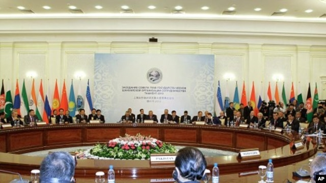 Members of the Shanghai Cooperation Organization seen during a meeting in Tashkent, Uzbekistan (File Photo - June 11, 2010)