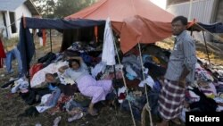 到达印尼的罗兴亚难民