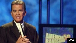 Dick Clark hosting American Bandstand