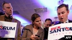 Romney dhe Santorum kryesojnë votimet partiake në shtetin Ajoua