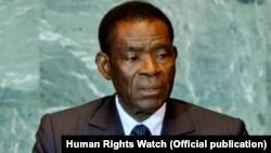 Teodoro Obiang Nguema, le président de la Guinée équatoriale