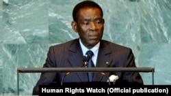 Teodoro Obiang Nguema, président de la Guinée équatoriale depuis 1979.