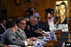 Jim Steinle, second from left, testifies at a Senate Judiciary hearing in 2015.