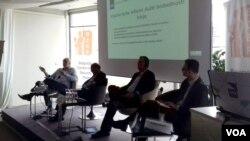 Rasprava o modelu novog zakona o službama bebednosti u organizaciji Beogradskog centra za bezbednosnu politiku, Beograd, 28. septembra 2017. (Veljko Popović, VOA)