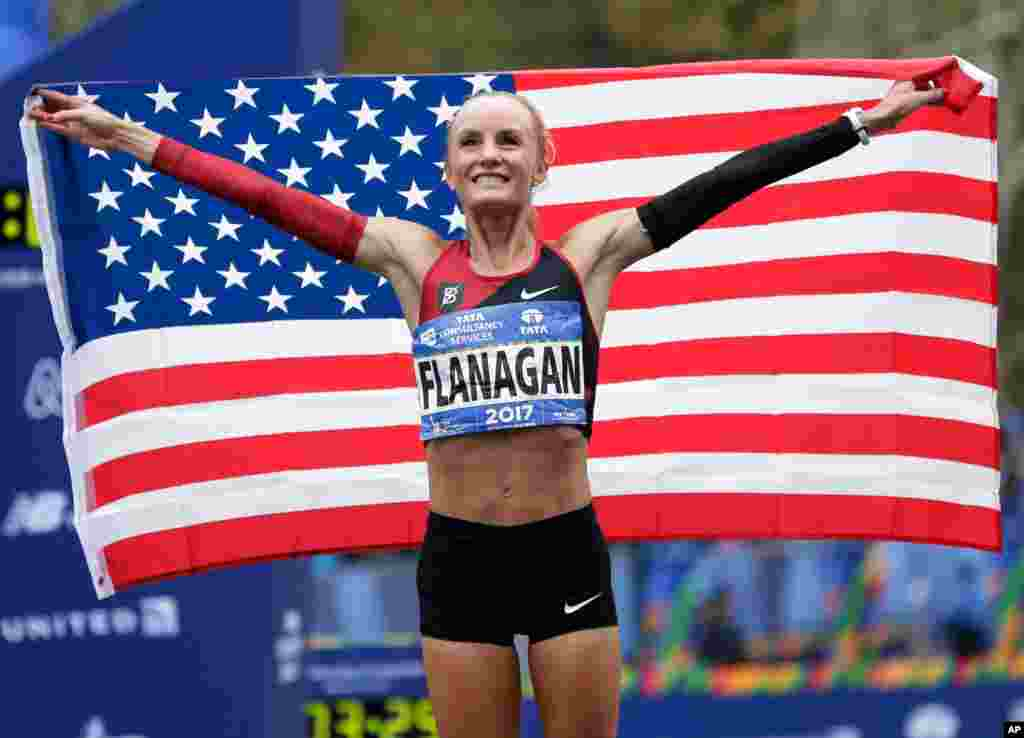 Shalane Flanagan mshindi wa mbio za marathon za New York 2017