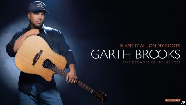 "The cover of Garth Brooks' 8-disc box set, ""Blame It All On My Roots."""