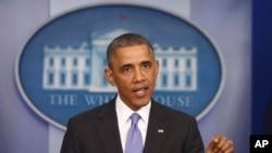 Presiden Barack Obamadi Gedung Putih (14/11).
