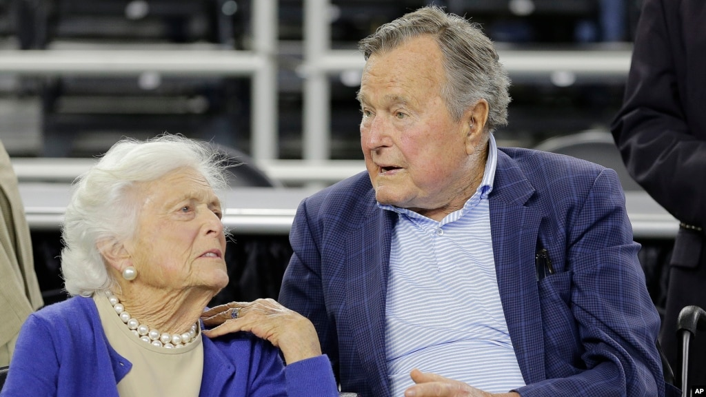 Image result for Ex-President George H.W. And Barbara Bush Hospitalized