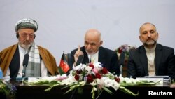 افغان صدر اجلاس سے خطاب کرتے ہوئے