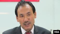 西藏议会议员格桑坚赞(美国之音张永泰拍摄)