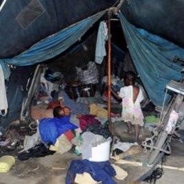 Children inside a tent at Vumilia Eldoret Camp