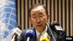 Ban Ki-Moon se mostró preocupado ante la situación humanitaria que viven los ciudadanos civiles.