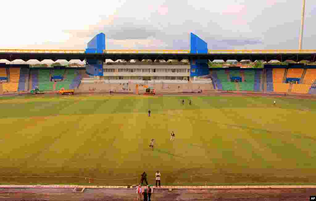 Franceville Soccer Stadium, with a 20,000 seating capacity (Gabon Local Organizing Committee)