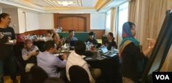 Workshop Peningkatan Kapasitas Koalisi Masyarakat Sipil di Yogyakarta. (Foto: VOA/Nurhadi)