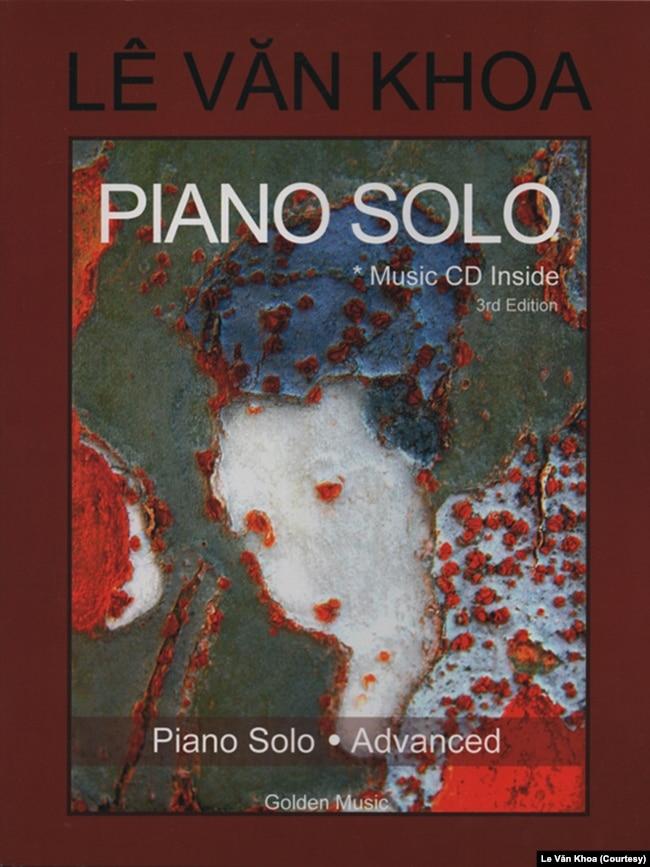 Bìa sách nhạc piano do nhạc sĩ Lê Văn Khoa biên soạn