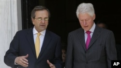 Антонис Самарас и Билл Клинтон