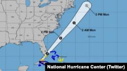 Tormenta tropical Philipp, se fortaleció y se alejó de Florida, según el Centro Nacional de Huracanes de Estados Unidos.