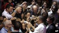 奧巴馬總統星期三在芝加哥慶祝生日