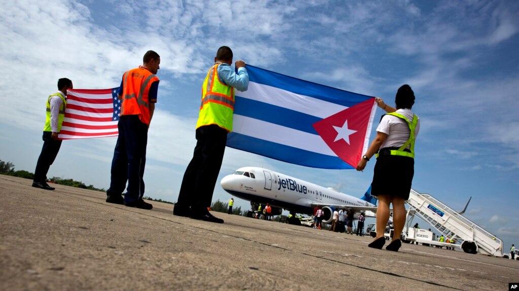 Một chuyến bay thương mại giữa Mỹ và Cuba