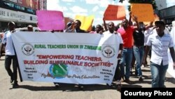 Some members of the Rural Teachers' Union of Zimbabwe.