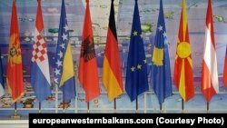 Zastave zemalja Zapadnog Balkana (Foto: europeanwesternbalkans.com/RFERL)