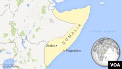 소말리아 수도 모가디슈에서 서쪽으로 245킬로미터 떨어진 바이도아.