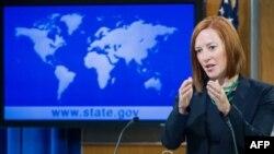 Phát ngôn viên Hoa Kỳ Jen Psaki nói rằng các biện pháp chế tài của Mỹ sẽ tiếp diễn chừng nào mà cuộc chiếm đóng Crimea còn tiếp tục