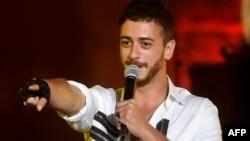 Saad Lamjarred au Festival international de Carthage, près de Tunis, le 30 juillet 2016.