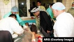 محمد اشرف غنی در شفاخانۀ شهید محمد داوود