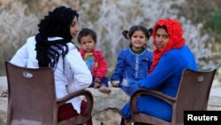 Syrian refugees in Ain Baal village, near Tyre, in southern Lebanon, Nov. 27, 2017. Poverty is forcing a growing number of Syrian refugee girls to become wives.