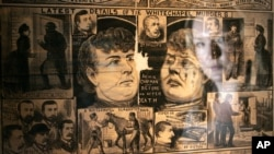 """The Illustrated Police News"" on display during the exhibition ""Jack the Ripper and the East End"" at the Museum in Docklands, London, Wednesday, May 14, 2008."