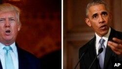 Rais Mteule Donald Trump na Rais Barack Obama
