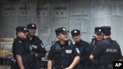 Cảnh sát Trung Quốc tại Thành Đô, tỉnh Tứ Xuyên.