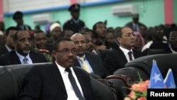 Hailemariam Desalegn attends the inauguration ceremony of Somalia's President Hassan Sheikh Mohamud in Mogadishu September 16, 2012.