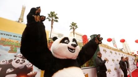 Master Po Ping pada pemutaran perdana 'Kung Fu Panda 3' di TCL Chinese Theater, Sabtu, 16 Januari 2016.