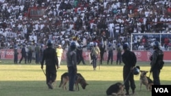 FILE: Highlanders supporters having running battles with the police at Babourfields Stadium.