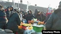 북한 청진의 장마당. (자료사진)