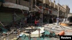 폭탄 테러가 발생한 바그다드 동부 마을. (자료사진)