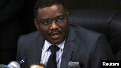 尼日利亚卫生部长丘库(2014年8月14日资料照片)