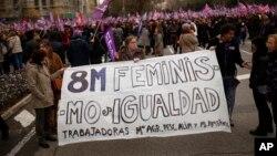 La manifestation en Espagne.