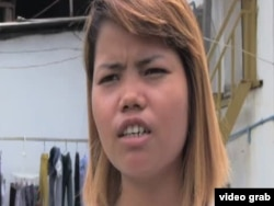 21-year-old Phon Chany, factory worker says she works long hours and barely have enough to eat
