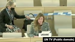 Еміне Джапарова особисто взяла участь в інтерактивному діалозі в Женеві
