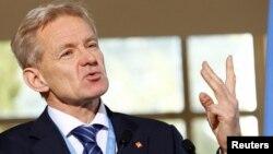 Penasihat senior PBB untuk Suriah, Jan Egeland dalam konferensi pers di Jenewa, Swiss (foto: dok).