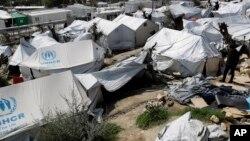 Kamp pengungsi Moria di Pulau Lesbos, Yunani (foto: ilustrasi).