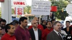 Протест против цены на бензин